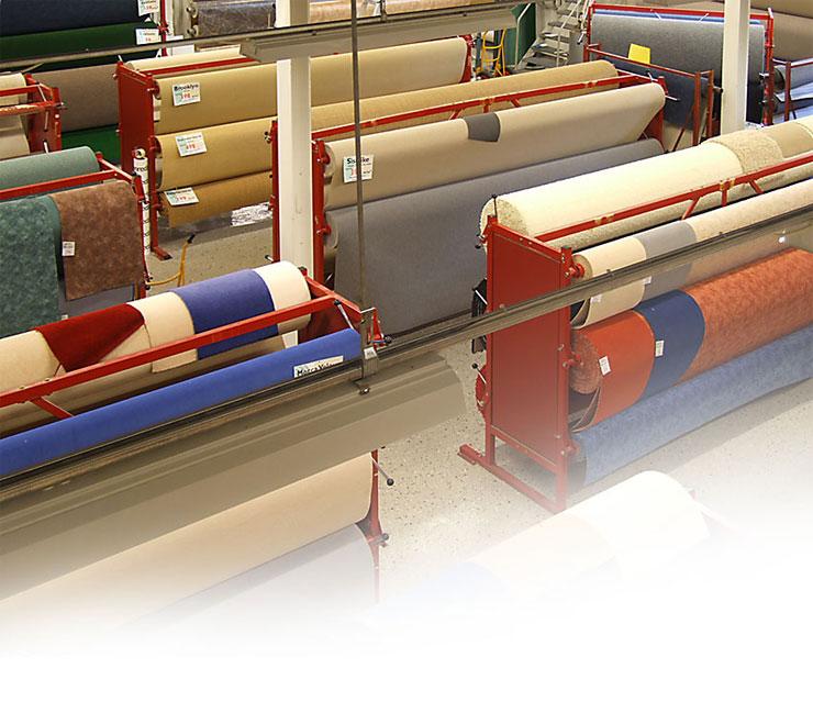 Stort sortiment textilgolv